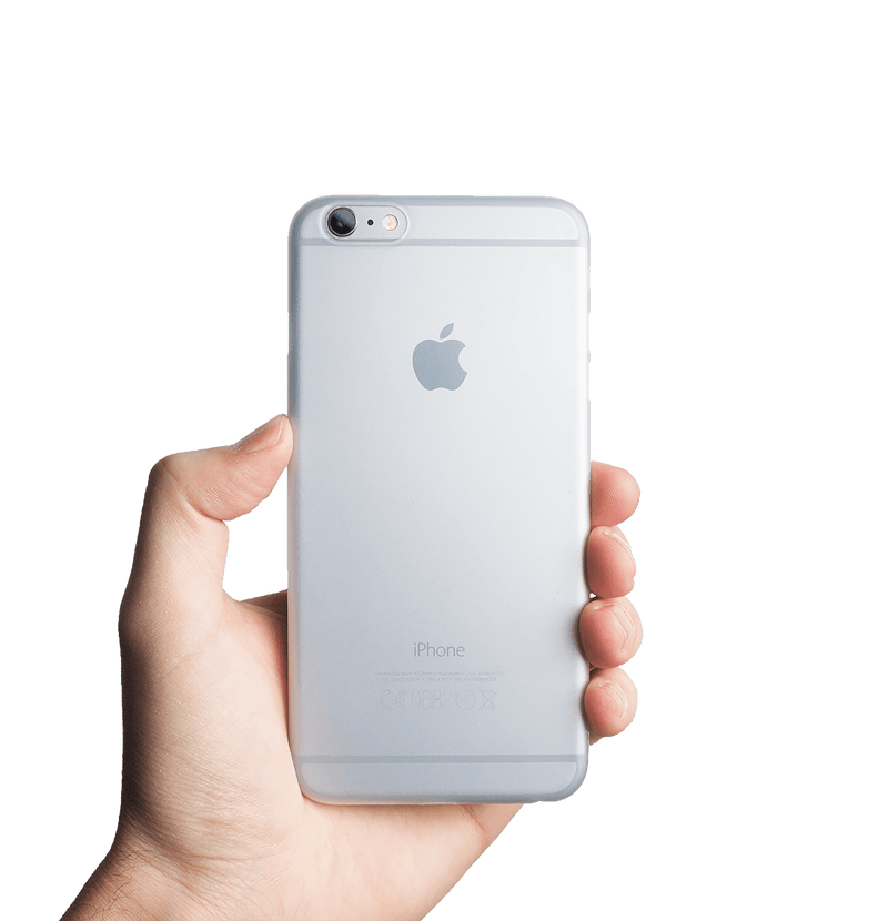 Ultra tyndt iPhone 6s Plus cover - Frosted transparent