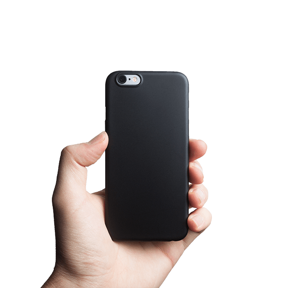 Ultra tyndt iPhone 6s cover - Solid black