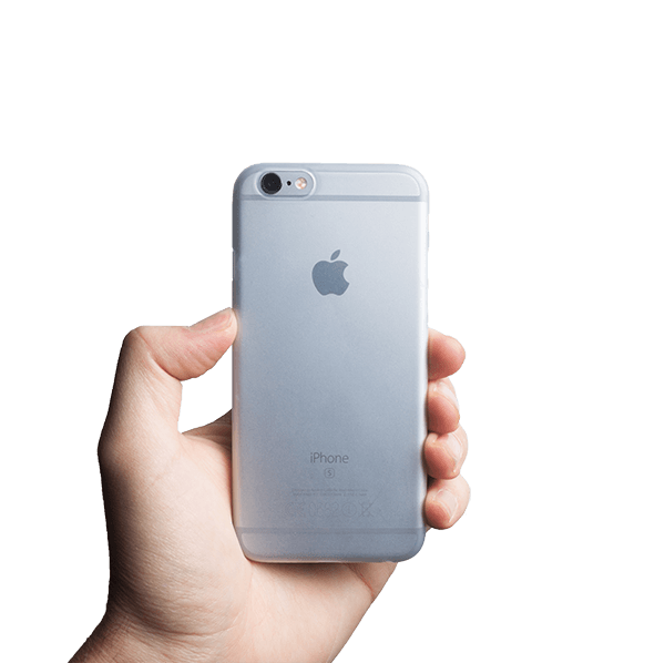 Ultra tyndt iPhone 6s cover - Frosted transparent