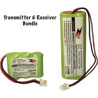 2-Pack Bundle ZZcell Battery For Dogtra Transmitter BP12RT Receiver BP20R, 200NCP, 202NCP, 280NCP, 282NCP, 300M, 302M, 7000M, 7002M
