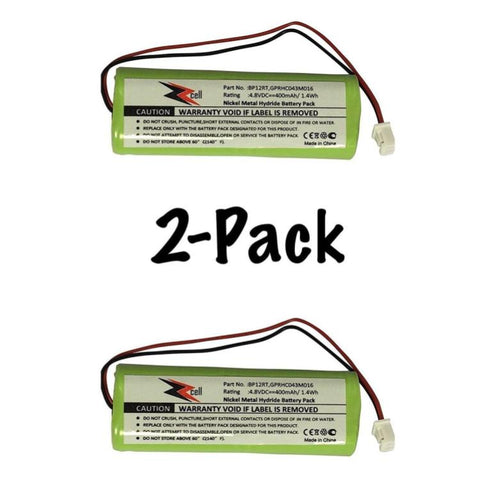 2-Pack ZZcell Battery For Dogtra Transmitter BP12RT, 175NCP, 200NC, 200NCP, 202NCP, 280NCP, 282NCP, 1900NCP, 1902NCP, 300M, 302M, 7000M, 7002M, 7100H, 7102H, 7100, 7102, 1100NC, 2000B, 2000200NC