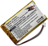 ZZcell Battery for Garmin 361-00019-16, 361-00019-12, Garmin Nuvi 1300, 1340T Pro, 1350, 1350T, 1370, 1370T, 1375T, 1390, 1390T, 1490