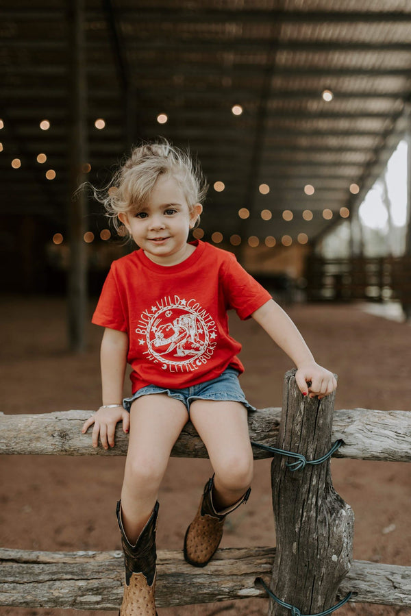 WANDERING LITTLE BUCK RED TEE