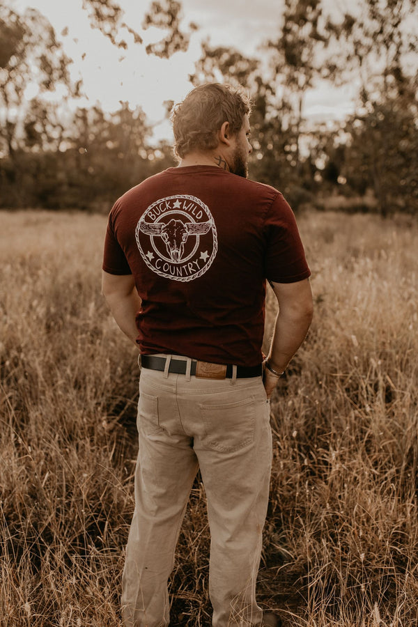 MAROON BUCKLE UP T-SHIRT