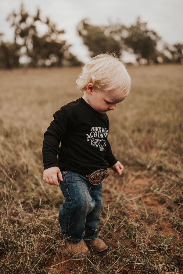 LITTLE EMBER BLACK LONG SLEEVE TEE