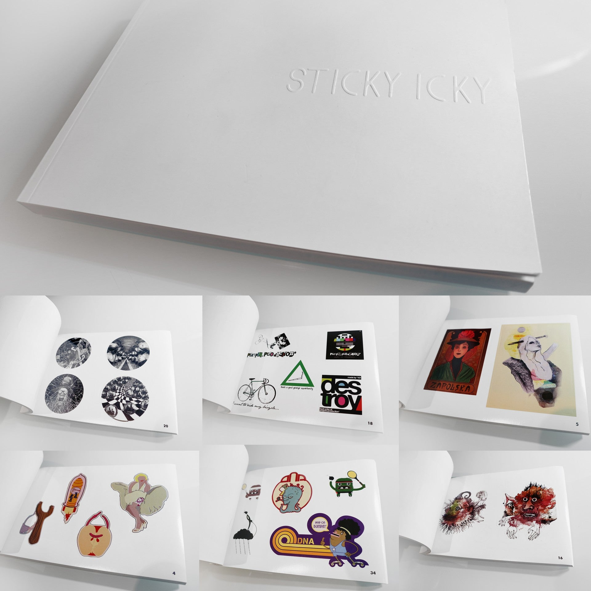 SOLD OUT - Original Sticky Icky Collector Stickers Album