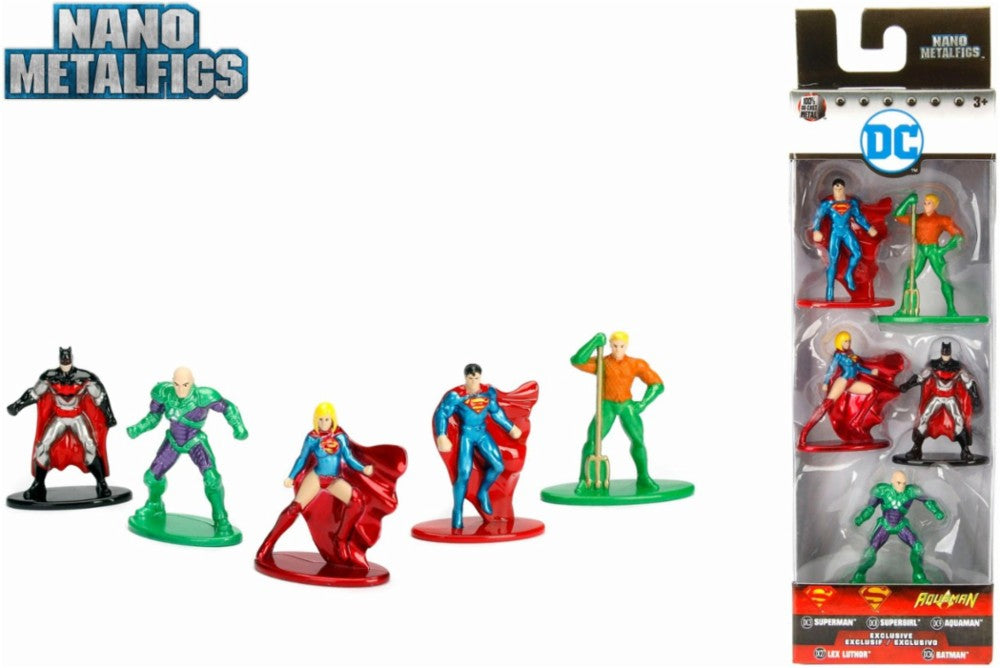 DC Nano Metal Figs 5 pack - H-Town Toy Company