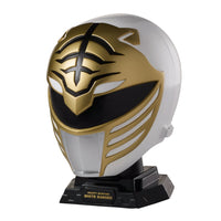 Power Rangers Legacy Mighty Morphin Helmet Display Set, White Ranger - H-Town Toy Company