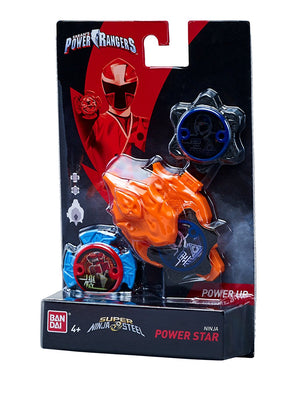 Power Rangers Super Steel Ninja Power Star Pack, White Ranger - H-Town Toy Company