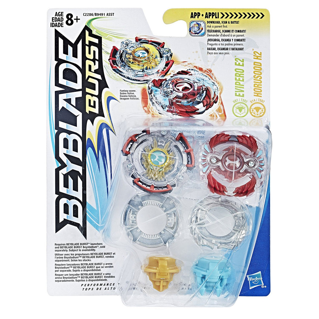 Beyblade Burst Dual Pack Evipero E2 and Horusood H2 - H-Town Toy Company