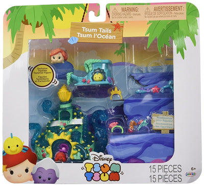 Tsum Tsum Disney the Little Mermaid Tails Set Miniature Toy Figures - H-Town Toy Company