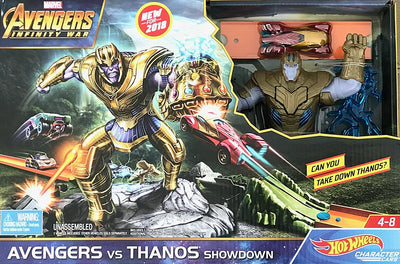 Marvel Avengers Infinity War Avengers vs Thanos Showdown Hot Wheels Character Cars - H-Town Toy Company