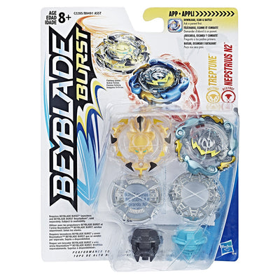Beyblade Burst Dual Pack Treptune and Nepstrius N2 - H-Town Toy Company