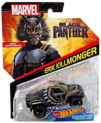 Marvel Black Panther Erik Killmonger Hot Wheels Character Cars - H-Town Toy Company