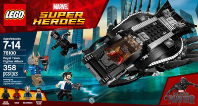 LEGO-Marvel Super Heroes Black Panther Royal Talon Fighter Attack - H-Town Toy Company