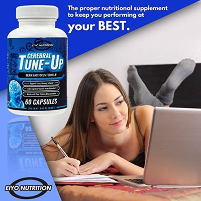 Cerebral Tune Up - Brain Supplement, Nootropic - Eiyo Nutrition