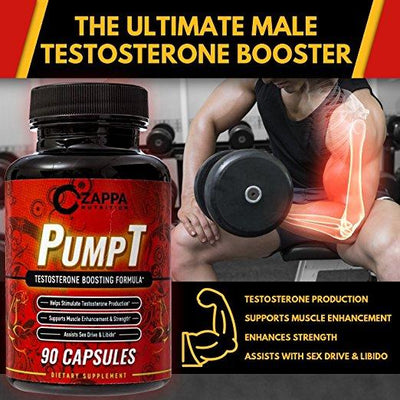 Pump-T Testosterone Booster - Natural T-Booster- Eiyo Nutrition
