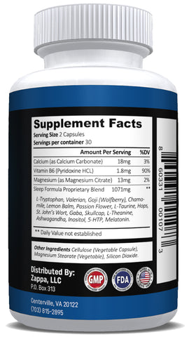 Sleep Aid Support ( All Natural ) - Meletonin - Eiyo Nutrition