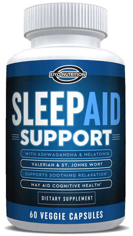Sleep Aid Support (All Natural) - with Melatonin & Ashwagandha - Eiyo Nutrition -  Eiyo Nutrition