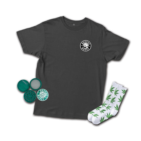 T-shirt, Socks + Grinder Bundle (Save £7)