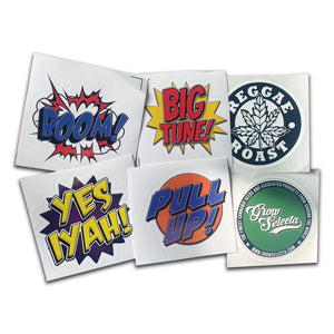 6 x Reggae Roast Stickers (Pack 3)