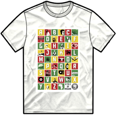A- Z Of Reggae T Shirt
