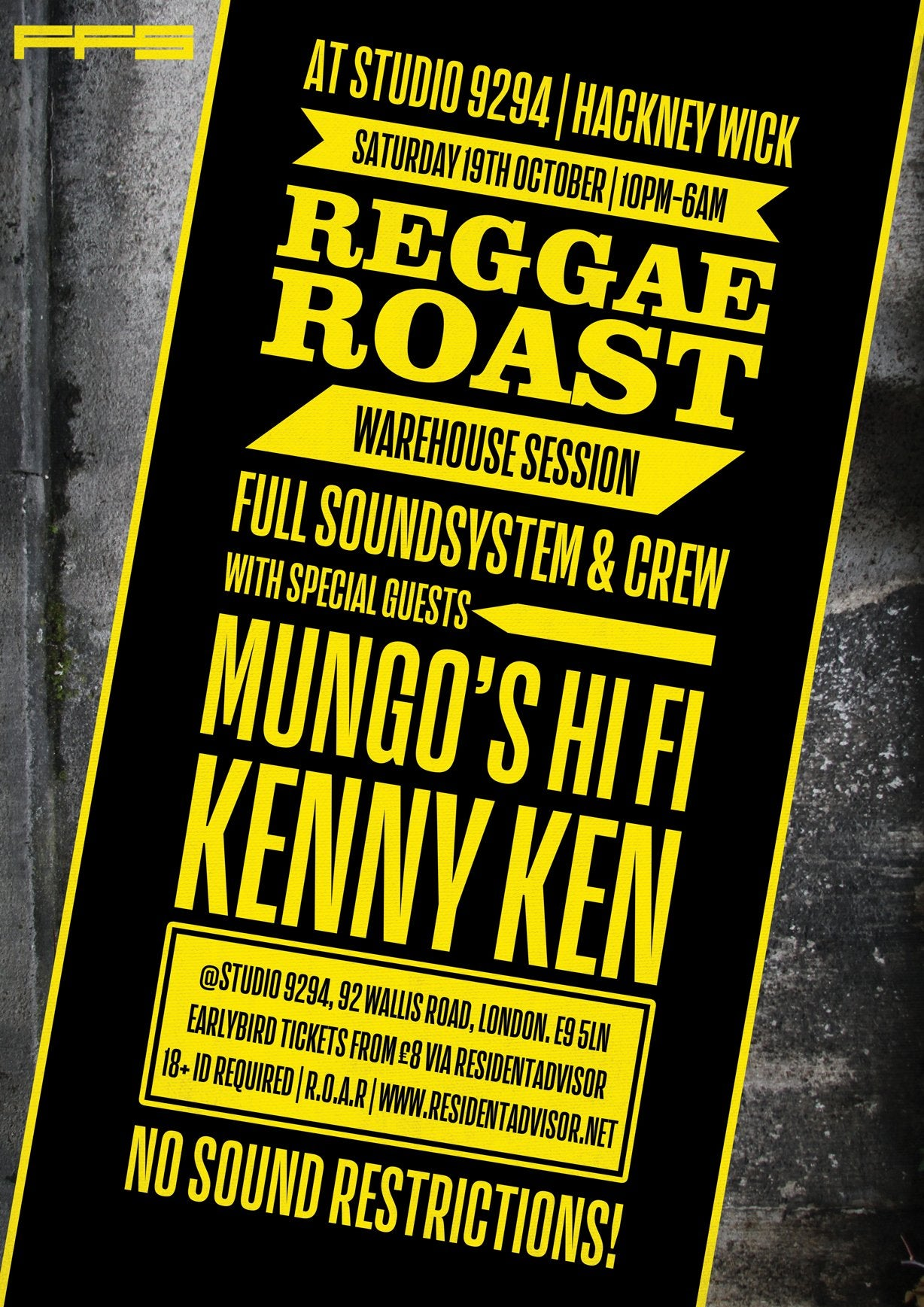 Reggae Roast Warehouse Party: Full Soundsystem!