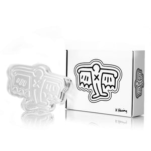 Man Bat Crystal Glass Ashtray by Keith Haring