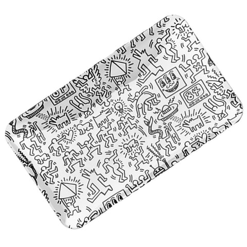 Glass Rolling Tray by Keith Haring