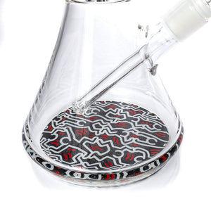 Glass Water Pipe by Keith Haring