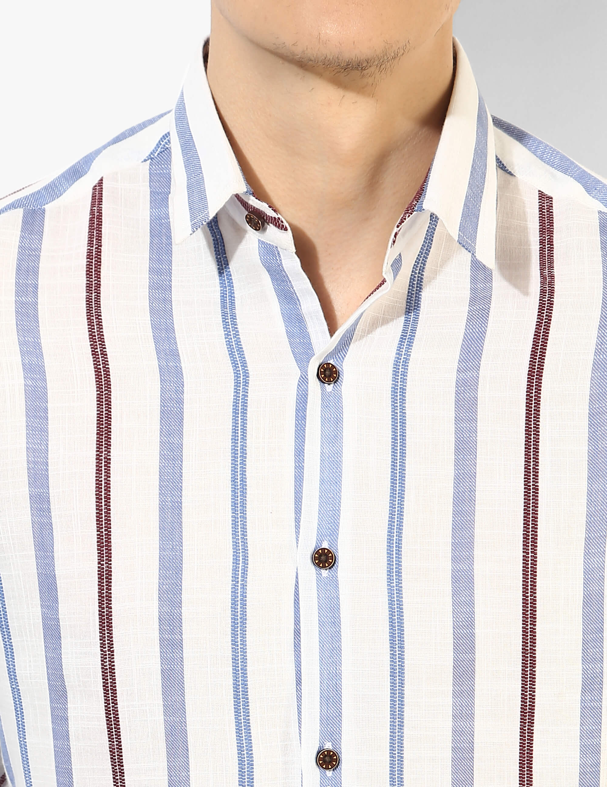 Voguish White Striped Shirt - Tuck N Stitch
