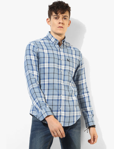 Bold Blue Check Shirt - Tuck N Stitch