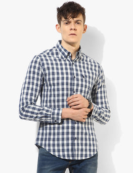 Stout Blue and White Check Shirt