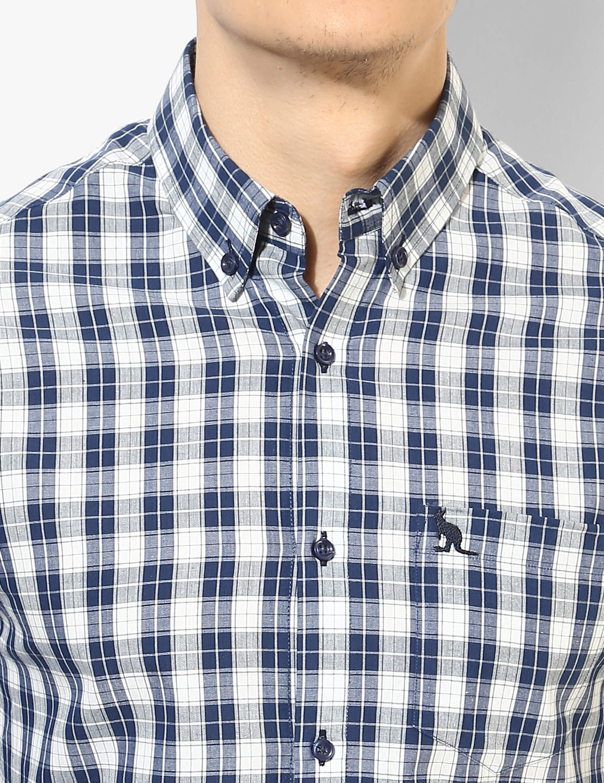 Stout Blue and White Check Shirt - Tuck N Stitch