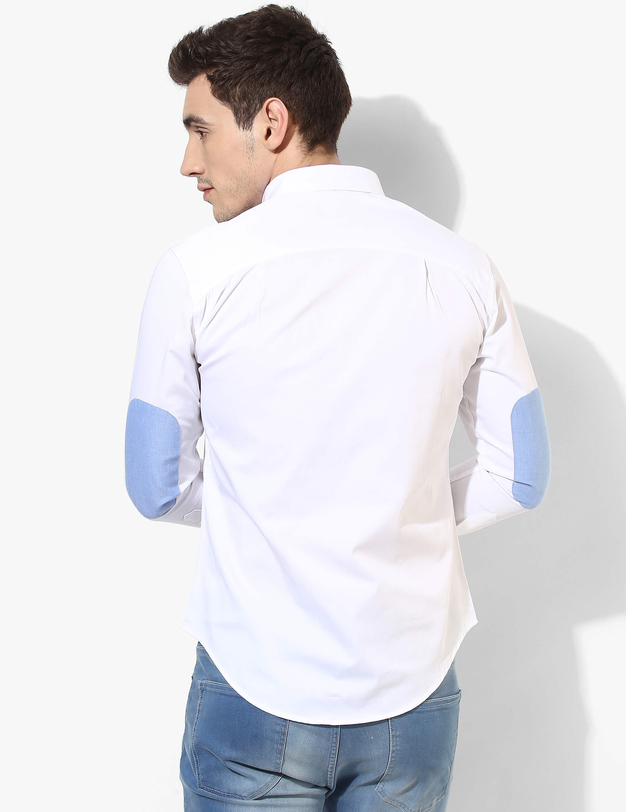 Sturdy White Solid Shirt - Tuck N Stitch