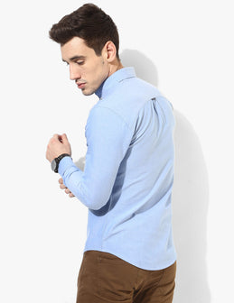 Benignant Light Blue Oxford Shirt - Tuck N Stitch