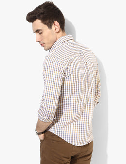 Suave Off-white Check Shirt - Tuck N Stitch