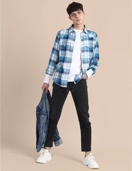 Light Blue Flannel Shirt