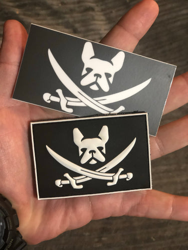 Pirate Frenchie PVC flag