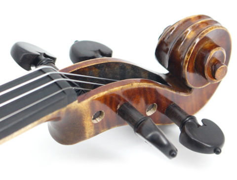 Buy Wholesale Concert Grade Solid Spruce & Ebony Whole Piece Back Violin Different Sizes with Accessories