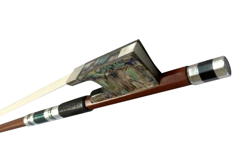Buy Wholesale High Quality Abalone Stripes Ebony & Brazilian Wood Cello Performance Round Bow