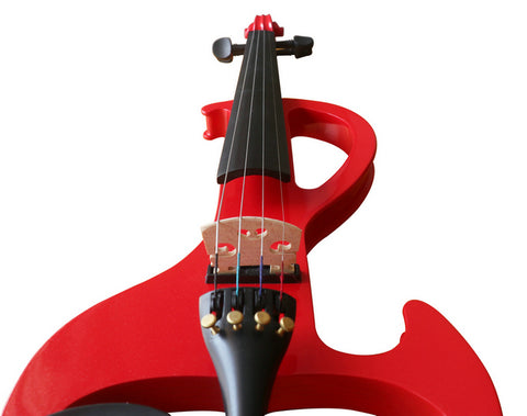 Wholesale Model SREV1005 Professional Level Piano Lacquer Coated Electric Violin with Accessories