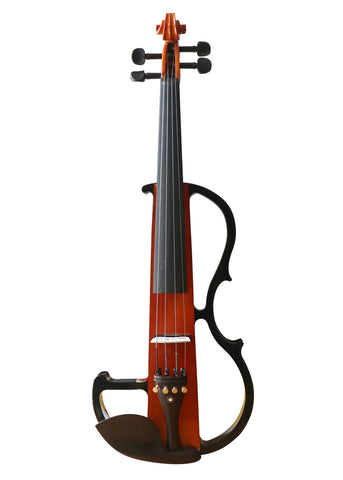 Wholesale Model SREV1004 Professional Level Piano Lacquer Coated Electric Violin with Accessories
