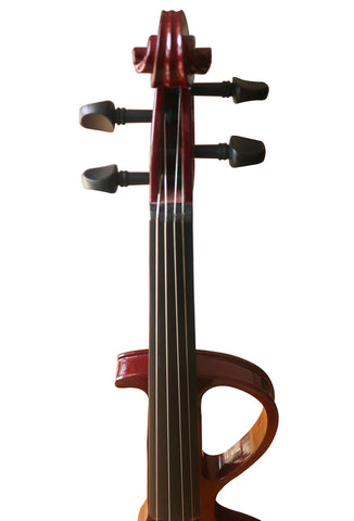 Wholesale Model SREV1007 Professional Level Brown Color Piano Lacquer Coated Electric Violin with Accessories
