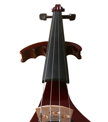 Buy Wholesale Professional Level Wine Red Color Piano Lacquer Coated Electric Violin with Accessories
