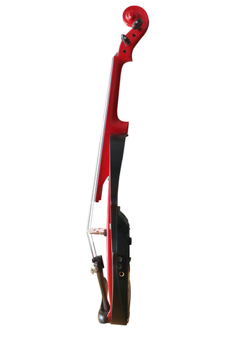 Wholesale Model SRV1008 Concert Grade Red Color Piano Lacquer Coated Electric Violin with Accessories