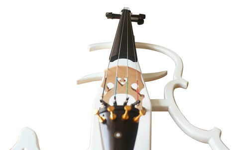 Buy Wholesale Professional Level White Color Piano Lacquer Coated Electric Cello with Accessories