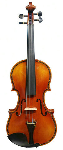 Wholesale Model SRV10016 Concert Grade Solid Spruce & Ebony Made Violin Different Sizes with Accessories