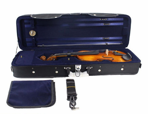 Buy Wholesale High Quality Imitation Ox-tendon Leather Shockproof Violin Square Case with Hygrometer