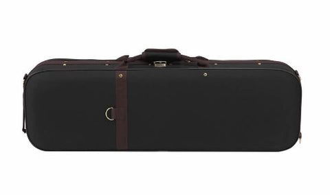 Buy Wholesale High Quality Imitation Ox-tendon Leather Violin Square Case with Hygrometer & Coffe Color Band